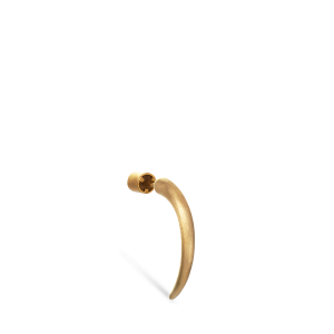 Kleiner Horn-Ohrring, mattem vergoldetem Sterlingsilber