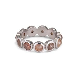 Rosecut Diamond Ring, 18 karat Weißgold (STØRRELSE)