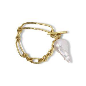 Pearl Bridle Bracelet, 18 karat gold
