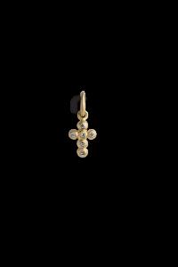 Kreuzanhänger mit 6 Brillanten, vergoldetem Sterlingsilber