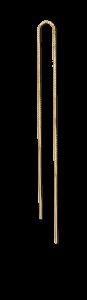 Einfacher Kettenohrring, mattem vergoldetem Sterlingsilber