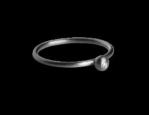 Princess Ring, rhodinated sterling silver