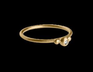 Small Diadem Ring, vergoldetem Sterlingsilber, 0.01 ct. Diamant