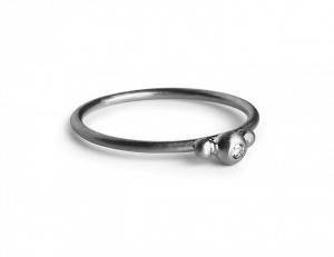 Small Diadem Ring, rhodiniertem Sterlingsilber