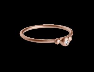 Small Diadem Ring, rosavergoldetem Sterlingsilber