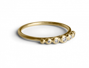 Big Diadem Ring, vergoldetem Sterlingsilber