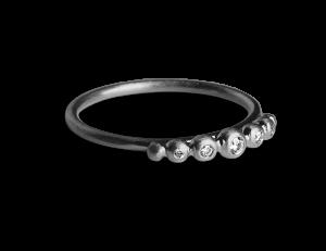 Big Diadem Ring, rhodiniertem Sterlingsilber