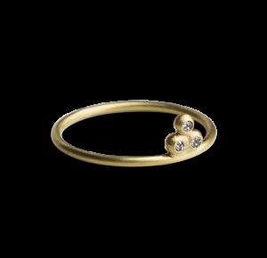 Diamond Temple Ring, vergoldetem Sterlingsilber