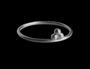Temple Ring, rhodiniertem Sterlingsilber