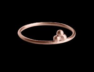 Temple Ring, rosavergoldetem Sterlingsilber