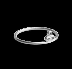 Diamond Temple Ring, Sterlingsilber