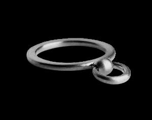 Septum Ring, rhodiniertem Sterlingsilber
