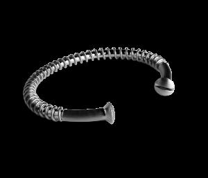 Industrie-Armband, rhodiniertem Sterlingsilber