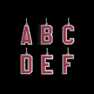 Buchstaben-Anhänger mit Emaille