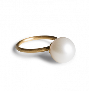 Big Pearl Ring, vergoldetes Sterlingsilber