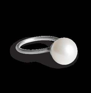 Big Pearl Ring, Sterlingsilber