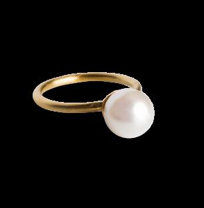 Small pearl ring, vergoldetes Sterlingsilber