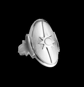 Shield ring, Sterlingsilber