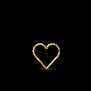 Heart of Love Twist Earring, 18-karat gold