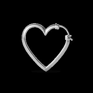 Heart of Love Earring, sterling silver