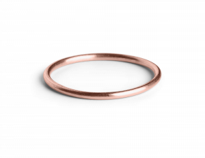 Simple Ring, rosavergoldetem Sterlingsilber