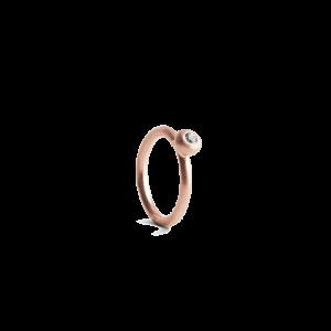 Twist Earring with Diamond, rosavergoldetem Sterlingsilber