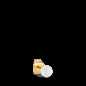Splash Bead Stud White Agate, vergoldetem Silber