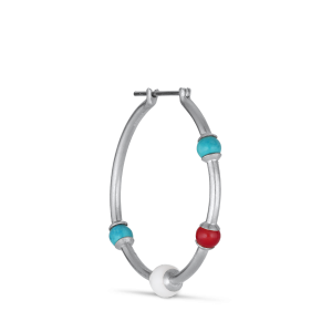 Splash Creole with turquoise, agate and coral, Silber