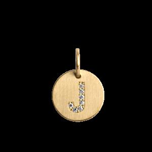 Kombination aus Ankerkette und mittlerem Lovetag-Anhänger mit Diamanten, 18 Karat Gold