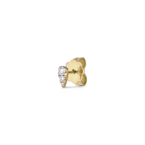 Drop ear stud, 18 Karat Weißgold, 0.11 ct. Diamant