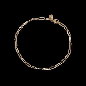 Navette bracelet Trace, 2.4 mm., 18 karat gold