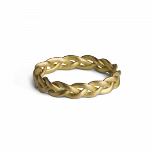 Medium braided ring, 18 Karat Gold