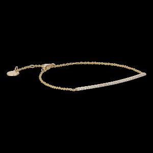 Pavé Bracelet, 18 Karat Gold, 0.14 ct Diamanten