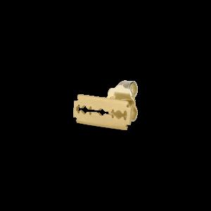 Razor stud, 18 Karat Gold