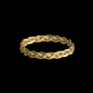 Braided ring, 18 Karat Gold