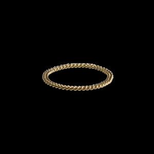 Small Chain ring, 18 Karat gold