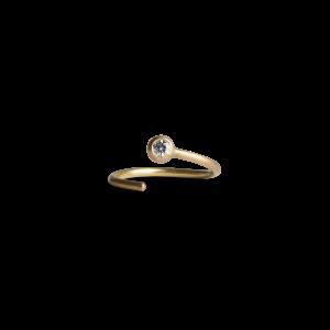 Twist earring, 118 Karat Gold, 0,02 ct. Diamant