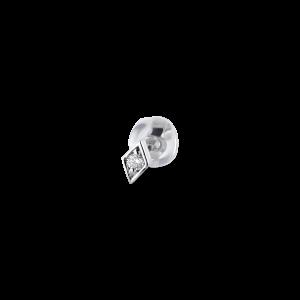 Rhomb ear stud, 18 Karat Weißgold, 0.025 ct Diamant