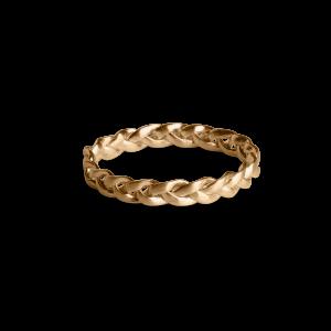 Small Braided Ring, vergoldetem Sterlingsilber