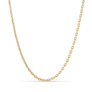 F+E Chain Necklace, vergoldetem Sterlingsilber