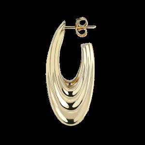 Sculpture Earring, vergoldetem Sterlingsilber