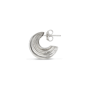 Small Sculpture Earring, Sterlingsilber
