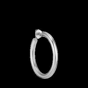 Shiny Slender Hoop, Silber