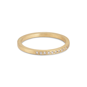 Small alliance ring, semi filled, 18 Karat Gold, 0,005 ct Diamanten