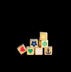 Loveletter Symbol, vergoldetes Sterlingsilber