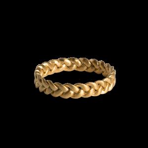 Medium Braided Ring, vergoldetem Sterlingsilber