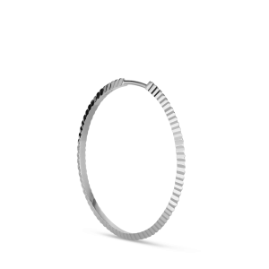 Reflection Midi hoop, Sterlingsilber