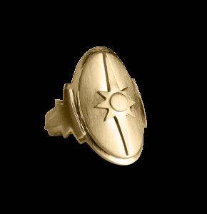 Shield Ring, vergoldetes Sterling Silber