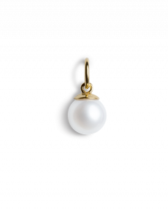 Kleiner Perlenanhänger, vergoldetem Sterlingsilber