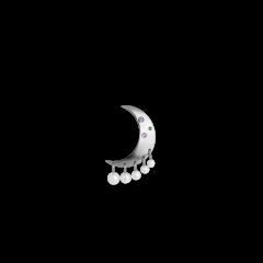 Pearl Moon Earring